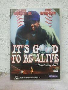 It's Good To Be Alive DVD - 1974 Lou Gossett Jr - BASEBALL SPORT MOVIE - Rare !