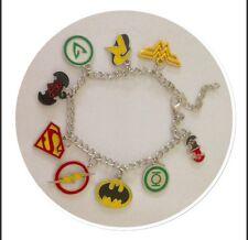 NEW Justice League Silver Plated Charm Bracelet - DC Comics - Batman Wonderwoman