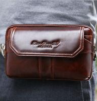 New Men Leather Cell Phone Belt Pouch Wallet Fanny Pack Waist Purse Clutch Bag