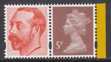 2011 Machin 5p Dull Red Brown SG Y1763 Litho 2B With KGV From DY2 Aerial Booklet