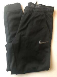 NIKE Men's Dri-Fit Warm Tapered Leg Sweatpants Black Size Large