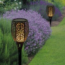 2pk 54led Solar Powered Flickering Flame Stake Lights Patio Garden Torch LED