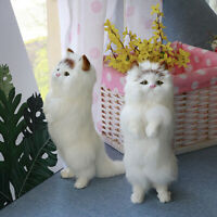 Cute Lovely Realistic Simulation Cat Doll Lifelike Plush Animal Toy Kids Gifts