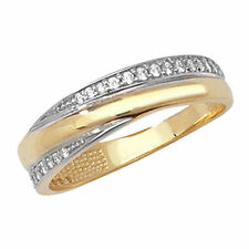 Unbranded Cubic Zirconia Eternity Yellow Gold Fine Rings