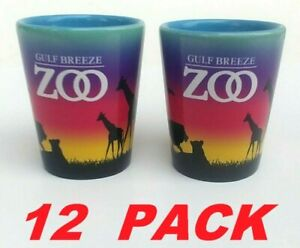 Ceramic Espresso Shot Glass 2 Oz Collectible Gulf Breeze Zoo Animals (12-PK) NEW