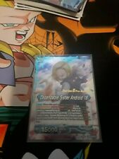 Dragon Ball Super TCG Dependable Sister Android 18 Pre release Stamp Foil NM