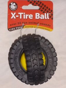 Pet Qwerks X-Tire Tuff Ball, Dog Toy, Over 20 Animal Sounds, Small XTA3 - NEW