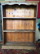 Rustic solid pine bookcase with backing