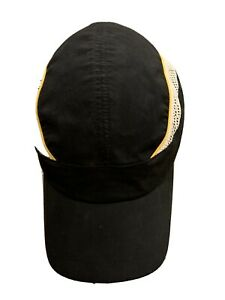 Castelli Mens Black White Yellow Cycling Vented Adjustable Hat Cap Sample