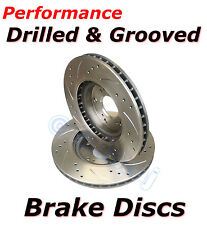 Performance Upgrade Drilled & Grooved REAR Brake Discs to fit Subaru Impreza GFC