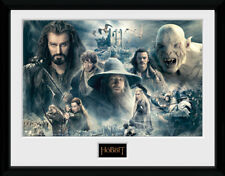 The Hobbit Battle of Five Armies Collage Film LOTR Framed Poster Print 40x30cm