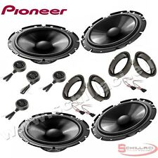 Car stereo front and rear 8 speakers kit for PIONEER Volkswagen VW Tiguan 2007-2