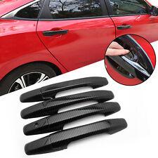 Carbon Fiber Style Door Handle Cover Trim ABS For Honda Civic 2006-2011 8th Gen