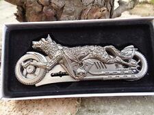 Lot de 3 Couteau Forme Harley Moto Loup Structure en Acier Wolf Rider CN211358WF