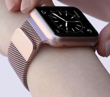 Armband geflochten für Apple Watch 38mm Edelstahlarmband Uhrarmband Rose Gold