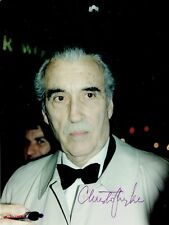 CHRISTOPHER LEE - Signed Colour candid photograph