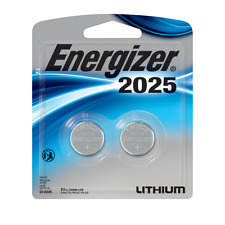Energizer CR2025 BP 3V Lithium Coin Cell Battery 2 Pack New Exp.03/2030