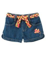 NWT Gymboree Girls Aloha Sunshine Denim Belted Shorts Size 18-24 M