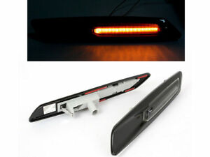 Smoke Amber Led Side Marker Light Gloss Black For BMW E81 E90 E60