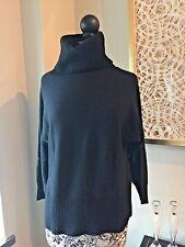 Banana Republic 100% Cashmere Black Cowl Neck Sweater Size XL