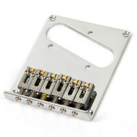 Electric Guitar Bridge Tailpiecec for Tele Guitar Top Loading with Roller Saddle