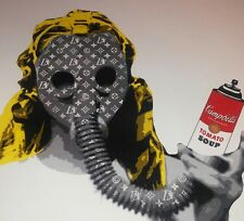 DEATH NYC ltd ed signed LG pop art print 45x32cm original gas mask andy warhol