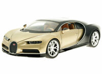 Welly BUGATTI CHIRON Gold and Black 1:36 Scale Die Cast Metal Model NEW