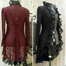 Medieval Cardigan Retro Women Stand Coat Lace Jacket Collar Steampunk Victorian