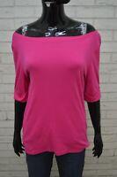 Maglia Donna RALPH LAUREN Taglia L Shirt Women Maglietta Manica 3/4 Cotone