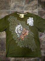 Vintage Ecko Unltd. 3XL COMPLEX TIGER BEAD LARGE GRAPHICS EMBROID STUDD T-Shirt