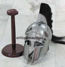 Greek Corinthian Armor Helmet With Black Plume - Medieval Knight Spartan Helmet