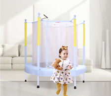 Blue Kids Children Indoor/Outdoor Play Toys Funny Safety Net Trampoline Gift.
