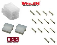 Whelen ISP188 Strobe Amp Power Supply Connectors Plugs Set 2 - 4 Pin  1 - 6 Pin
