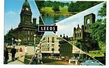 Yorkshire - Leeds - Vintage Bamforth Multiview Postcard