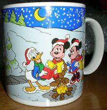 Applause~1988~Christmas Mug~Mickey Minnie Donald Daisy Pluto~Caroling