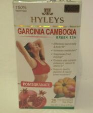 Hyleys Garcinia Cambogia Green Tea Pomegranate 100% Natural, 25 teabags