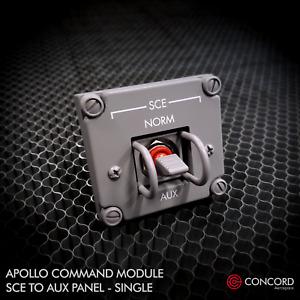 APOLLO COMMAND MODULE SINGLE SWITCH PANEL - SCE TO AUX REPLICA MEMORABILIA NASA