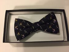Mens Bow Tie - PARTY theme - black - New Years Eve - silk - NEW
