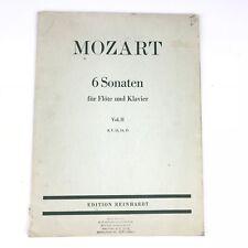 Mozart 6 Sonaten Fur Flote und Klavier Sheet Music Book