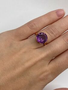Solid 14k Gold Ring with Sapphire
