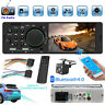 "4.1"" Single 1Din Touch Car Stereo MP5 Player RDS AM FM Radio BT AUX USB TF + Cam"