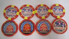Lot of 8 Assorted SLOTS OF FUN Casino $5 2000 LE LAS VEGAS POKER CHIPS *
