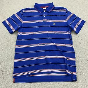 Brooks Brothers Performance Polo Shirt Mens Large Short Sleeve Blue Original Fit