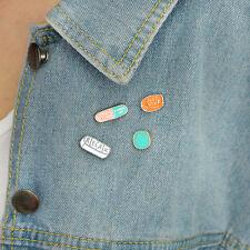 Pins Pill Meds Medical Enamel Pin Set Shoes Id - Cute Gift Idea 4pcs/set Cartoon