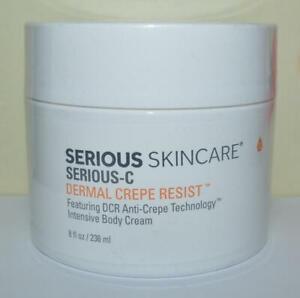 SERIOUS SKIN CARE Serious-C Dermal Crepe Resist Intensive Body Cream 8 OZ JUMBO