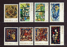 POLONIA/POLAND 1971 MNH SC.1832/1838 Stained Glass