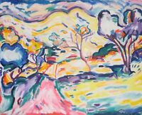 After Braque's Landscape at Collioure Hand-Painted Copy Oil Painting Fauvism Art