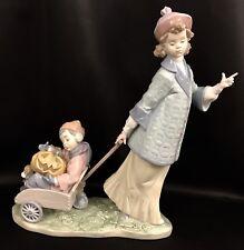 "Rare & Very Adorable~Lladro ""Pumpkin Ride"" (6244 Mint in Box)Children/Halloween"