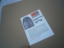 Catalogue voiture pub auto prospectus Uniroyal le  pneu pluie