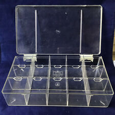 AKRO-MILS  Hard Plastic Storage Case for Hardware,Parts,Crafts etc Clear. 05-505